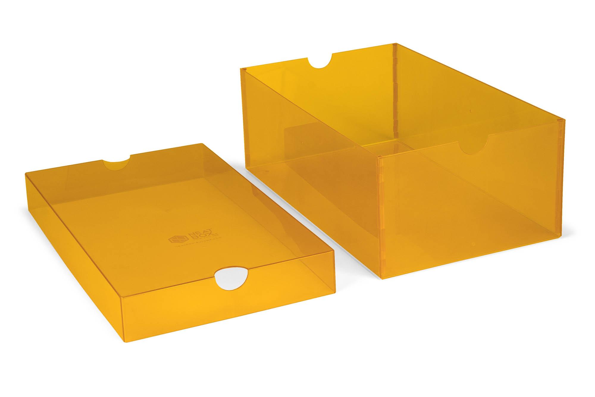 Caixa montada com fundo plano e tampa moldada
